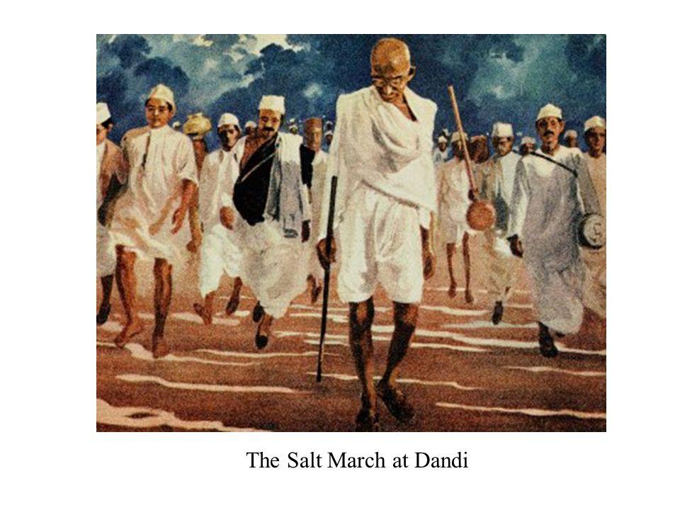 The Salt March at Dandi