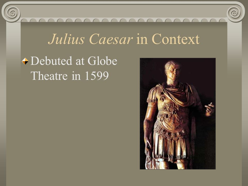 Speech # 3 CAESAR IS DEAD.And you are popular.