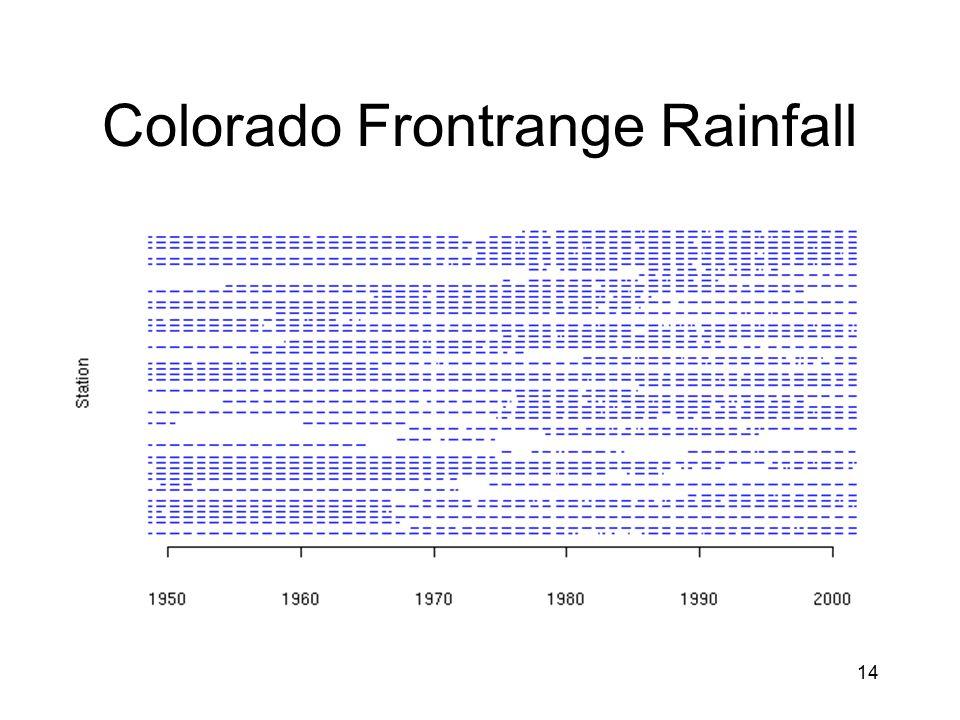 14 Colorado Frontrange Rainfall