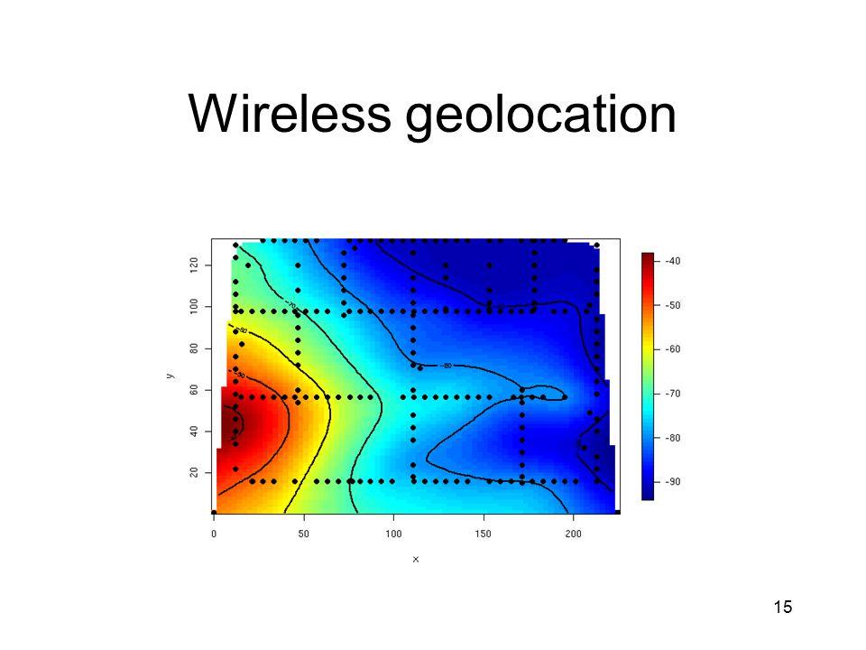 15 Wireless geolocation