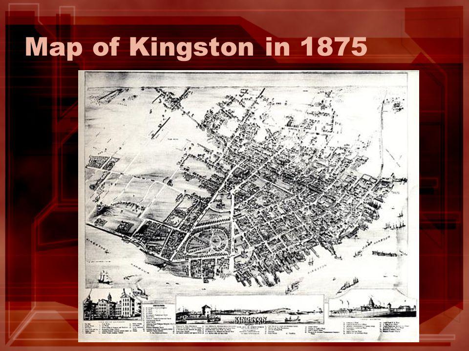 Map of Kingston in 1875