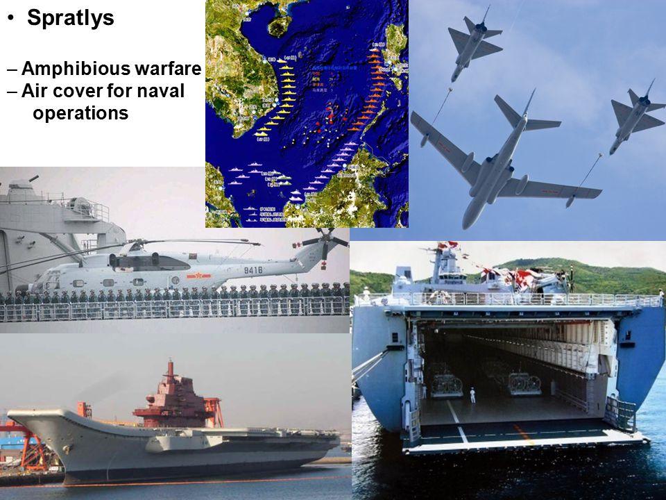 Spratlys – Amphibious warfare – Air cover for naval operations