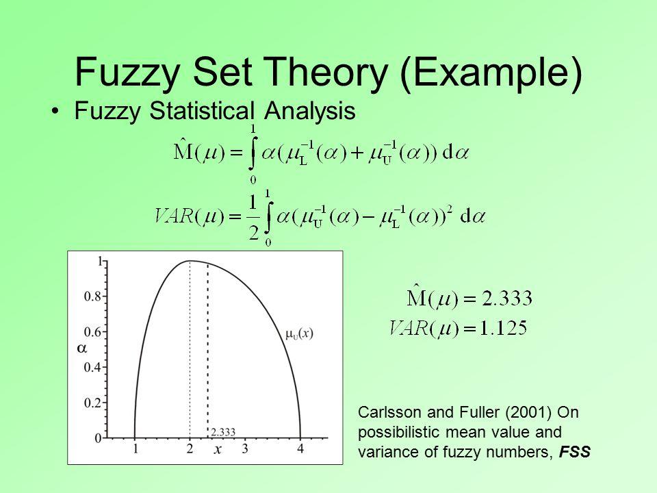 Fuzzy Statistical Analysis.