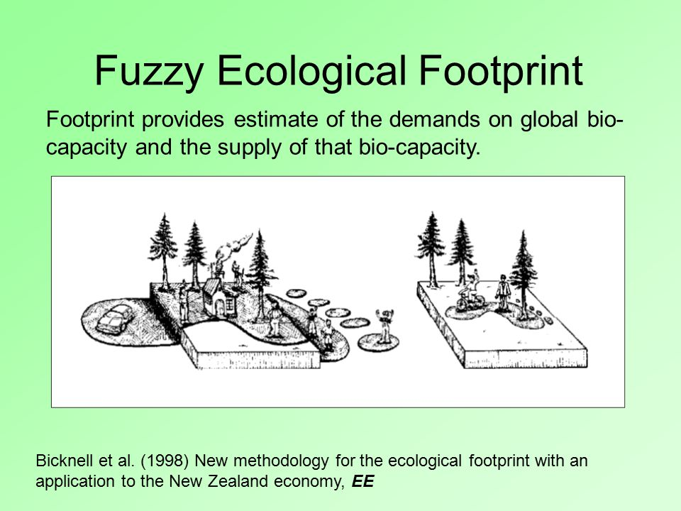 Fuzzy Ecological Footprint, Footprint provides estimate of the demands on global bio- capacity and the supply of that bio-capacity.