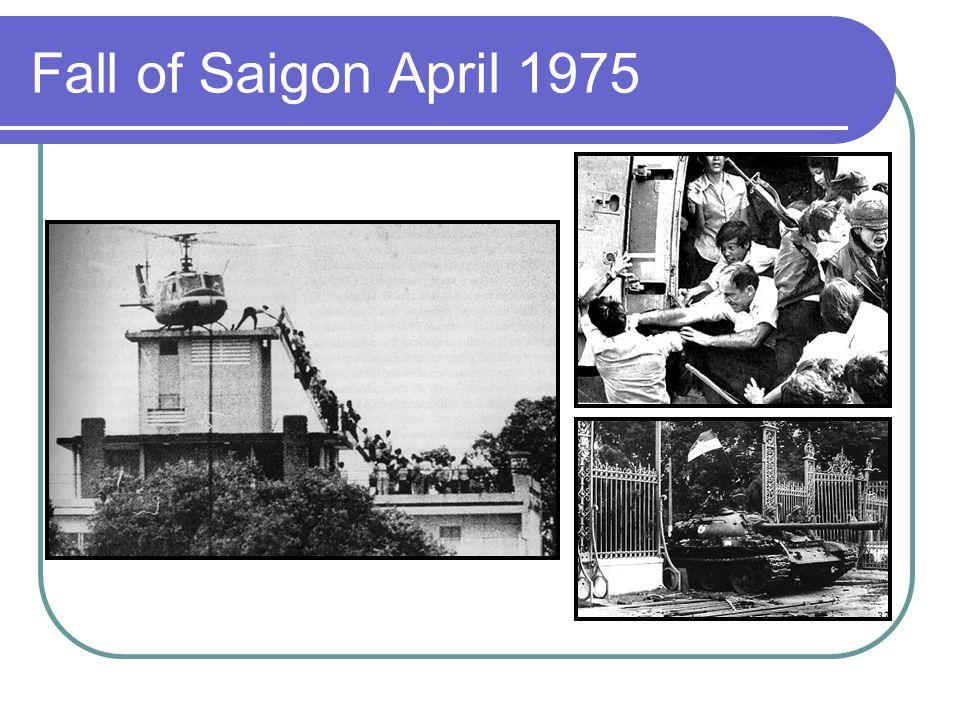 Fall of Saigon April 1975