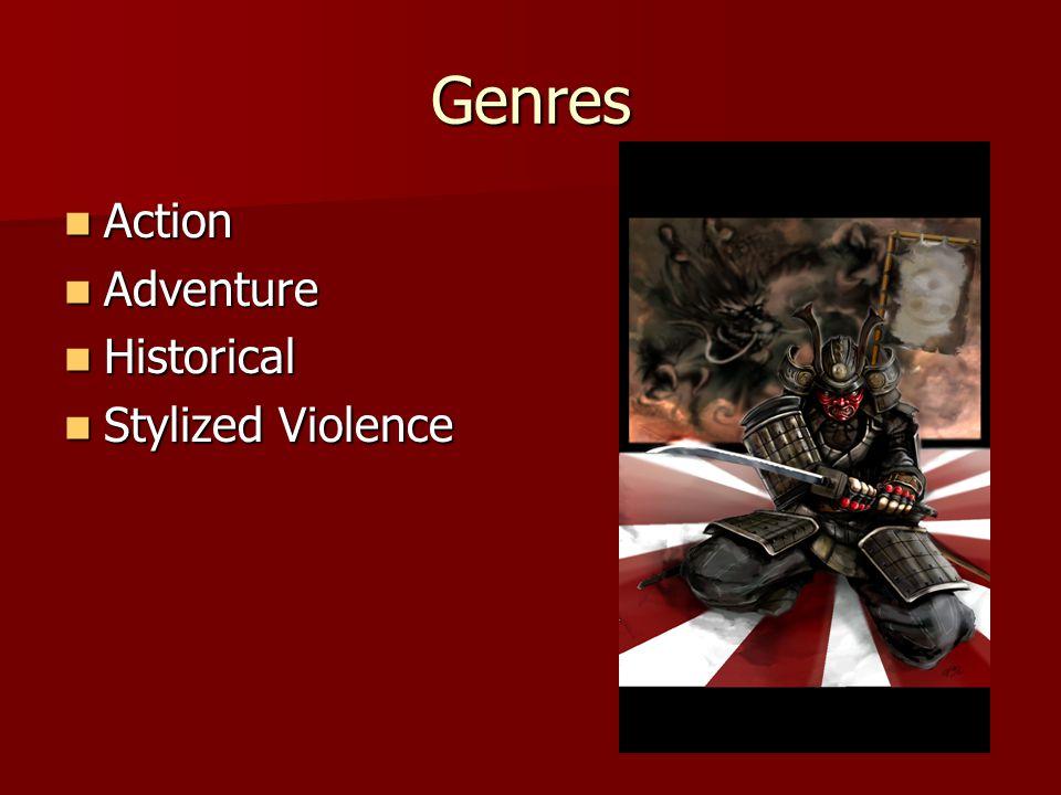 Genres Action Action Adventure Adventure Historical Historical Stylized Violence Stylized Violence