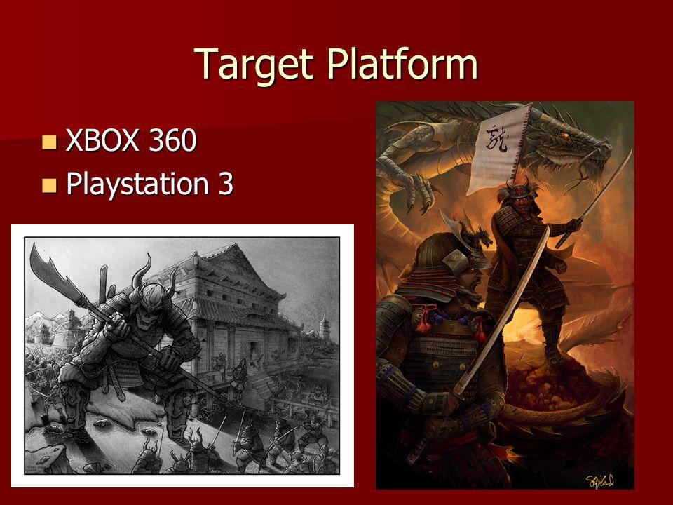 Target Platform XBOX 360 XBOX 360 Playstation 3 Playstation 3