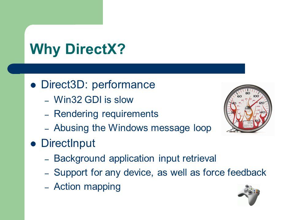 Why DirectX.