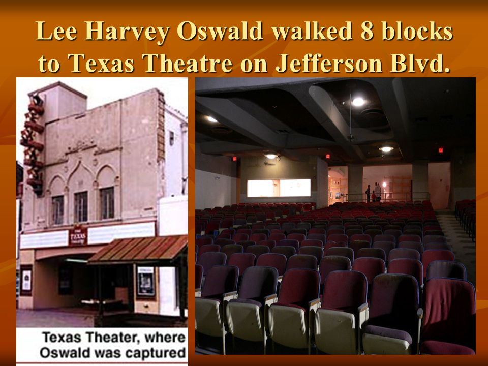 Oswald fled the scene He checked into his boarding house on 1026 Beckley.