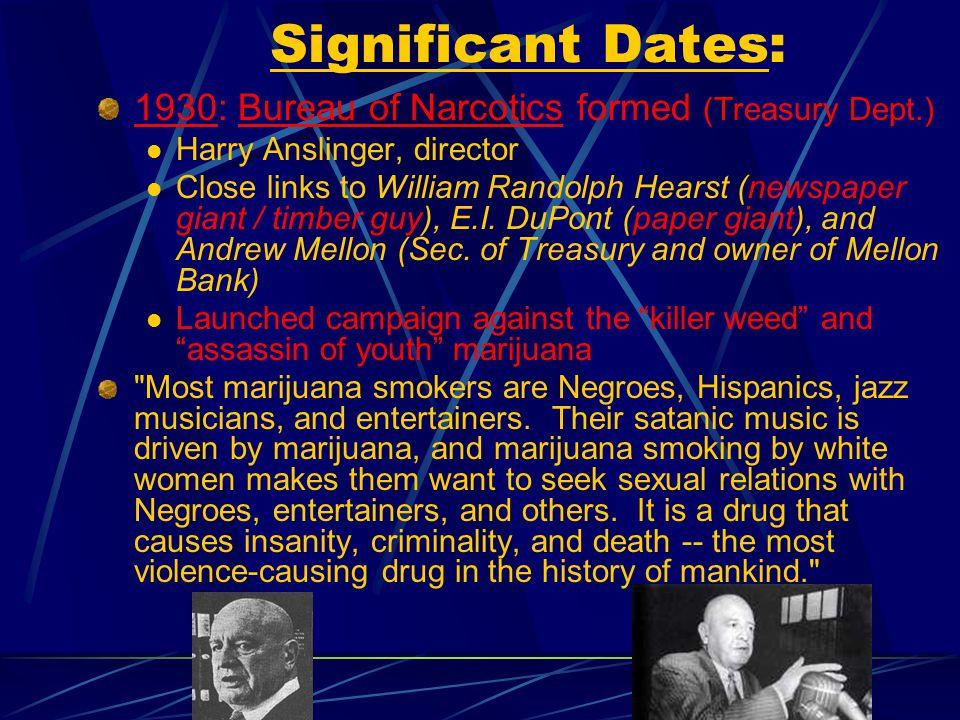 Drug War History: A Snapshot CJ/PS 4535 The War on Drugs a Dr. Matt presentation