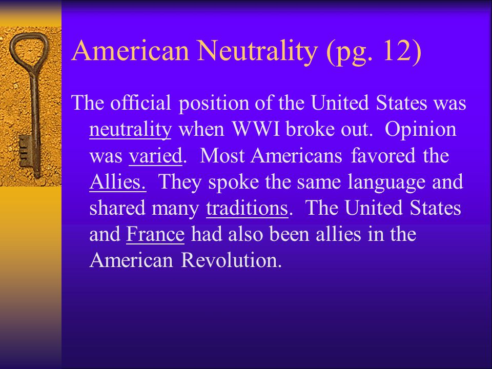 Declaration of Neutrality  What does neutrality mean.