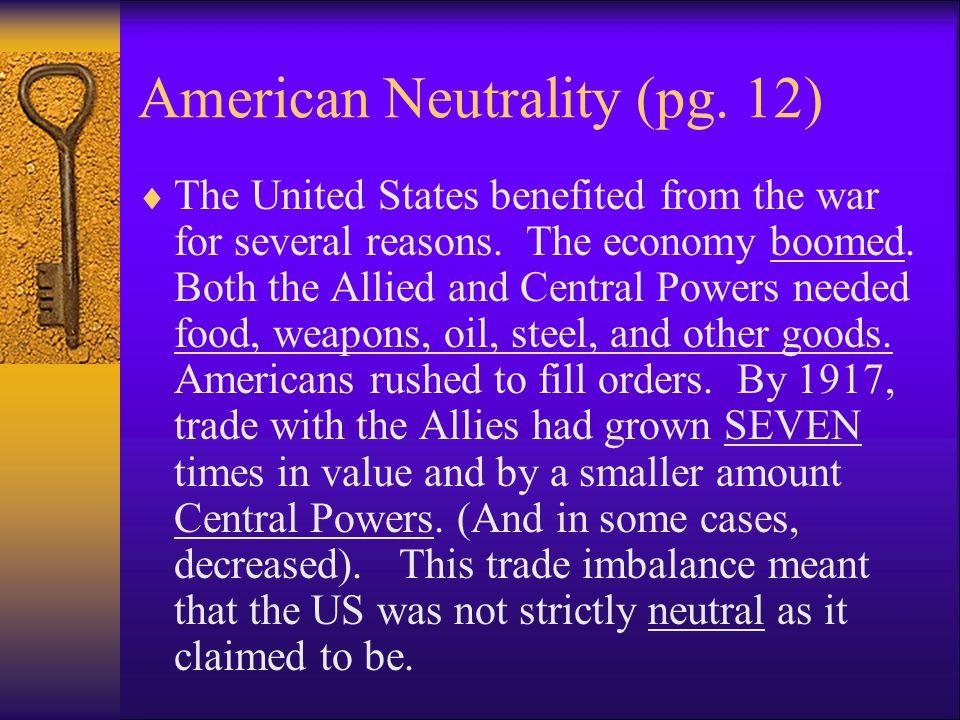 American Neutrality (pg.