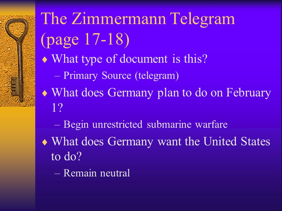 The Zimmermann Telegram (pg.
