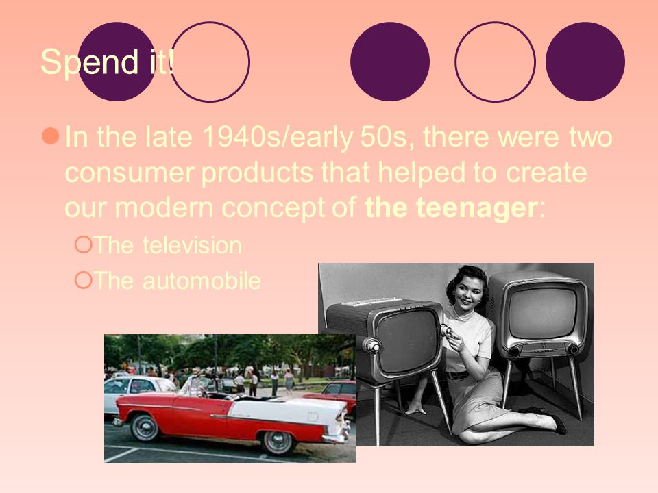 Hmmmm… So, how would an increase in TV and car purchases change American families.