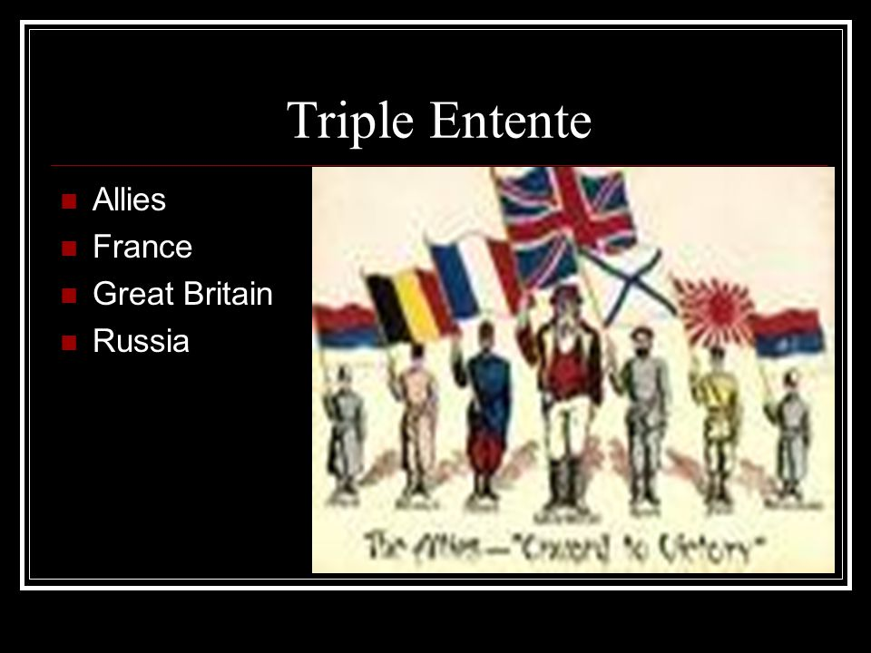 Triple Entente Allies France Great Britain Russia