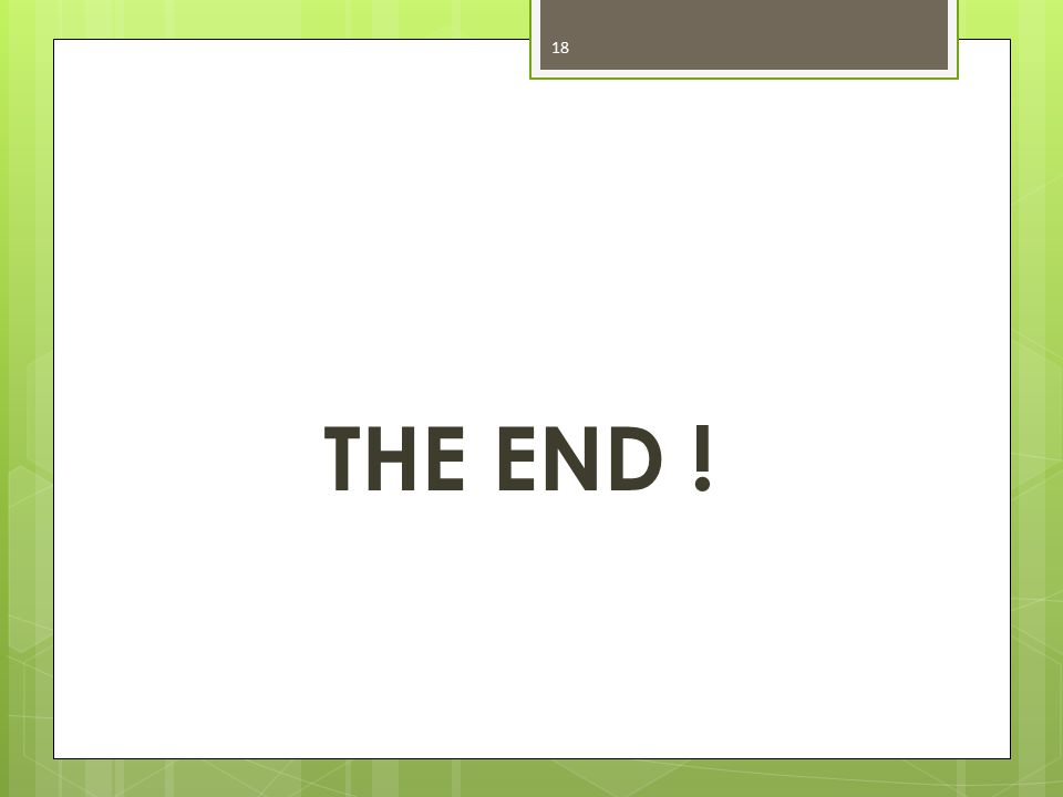 THE END ! 18