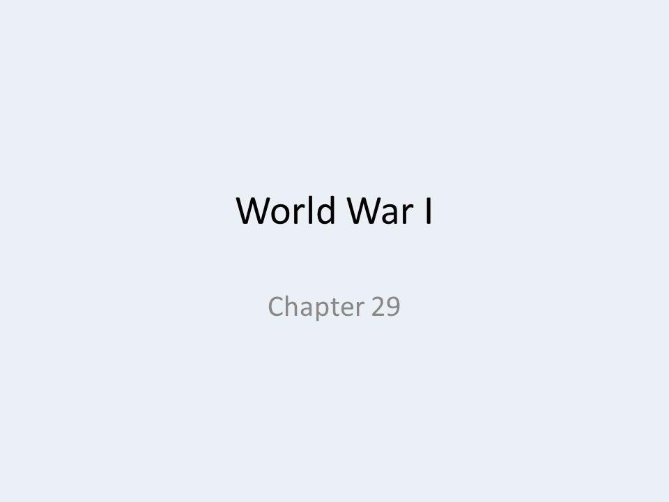 World War I Chapter 29