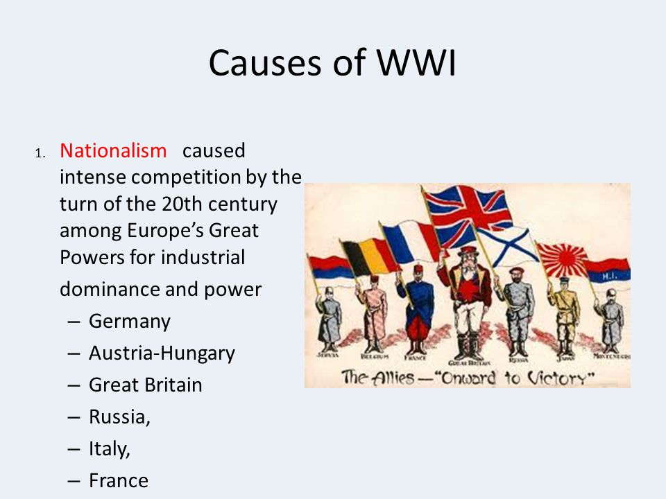 Causes of WWI 1.
