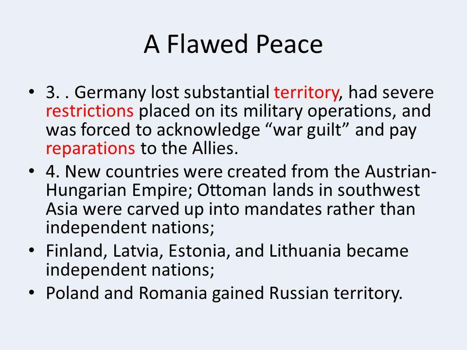 A Flawed Peace 3..