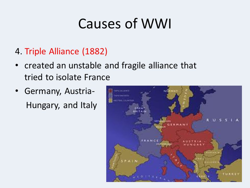 Causes of WWI 4.