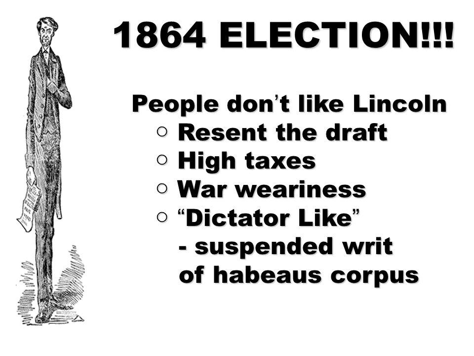 1864 ELECTION!!.