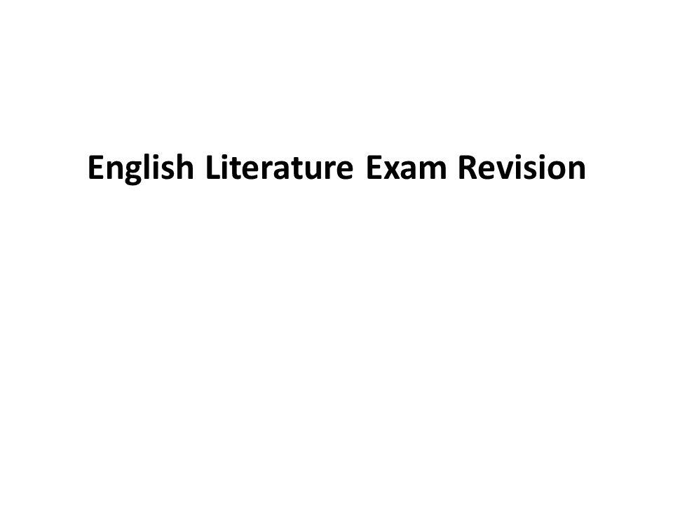 English Literature Exam Revision