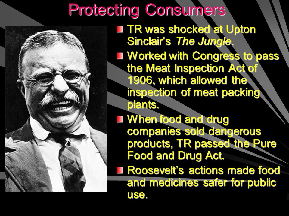 Protecting Consumers Protecting ConsumersTR was shocked at Upton Sinclair's The Jungle.