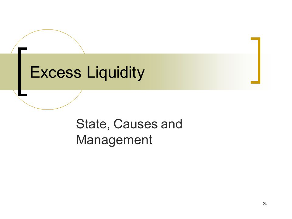 25 Excess Liquidity State, Causes and Management