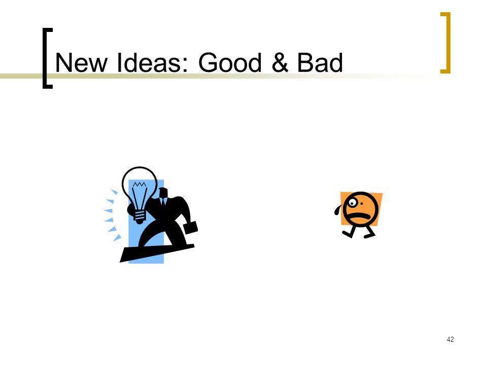 42 New Ideas: Good & Bad