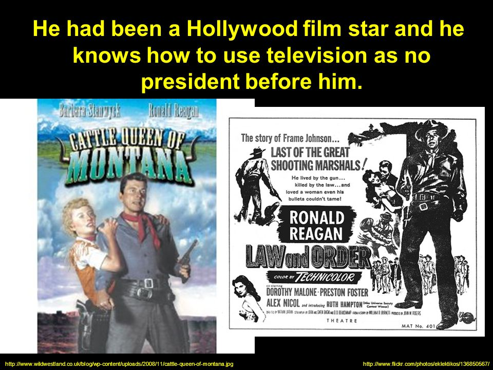 He had been a Hollywood film star and he knows how to use television as no president before him.