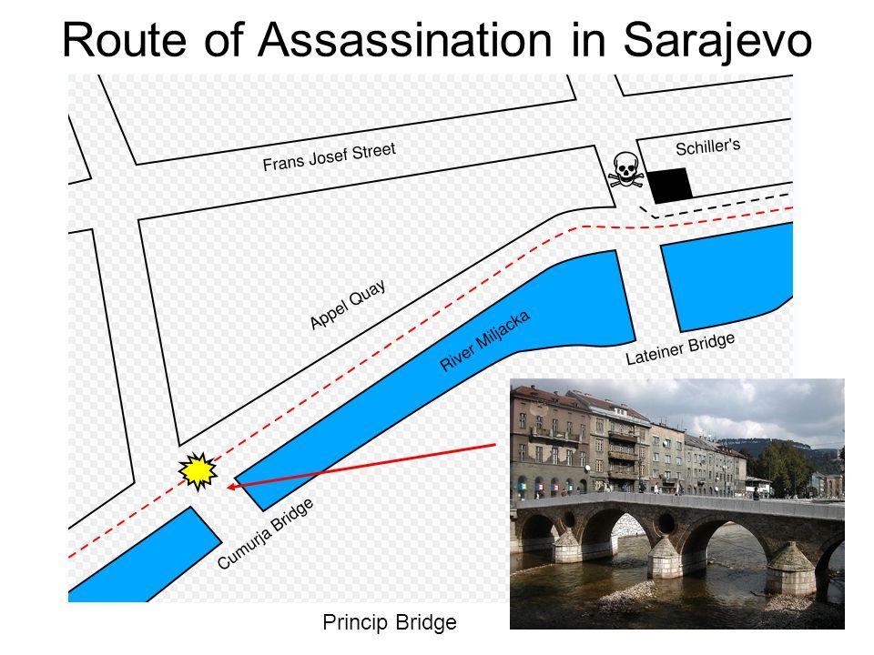 Route of Assassination in Sarajevo Princip Bridge