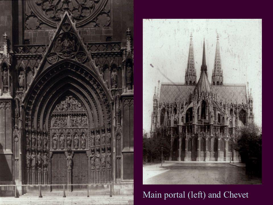 Main portal (left) and Chevet