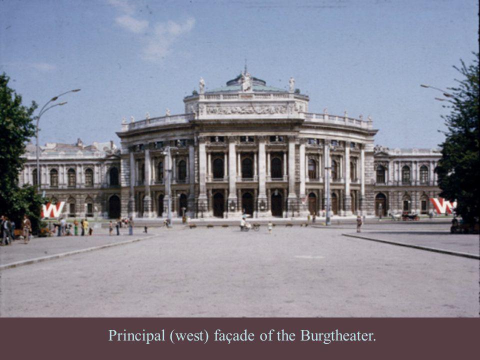 Principal (west) façade of the Burgtheater.
