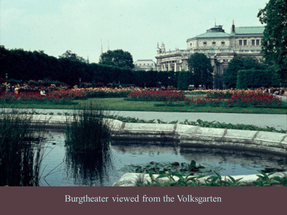 Burgtheater viewed from the Volksgarten