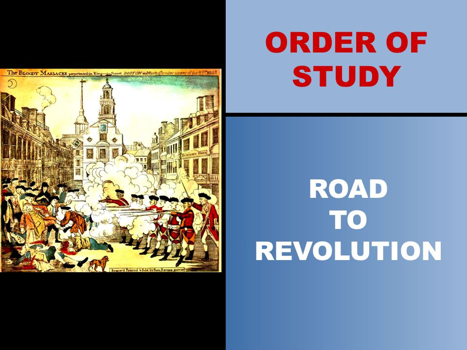 ORDER OF STUDY COLONIZATION OF NORTH AMERICA