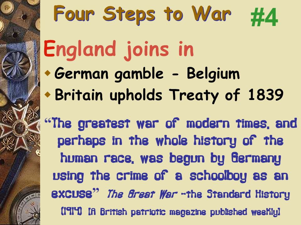 F. August 3-4 – Germany invades Belgium