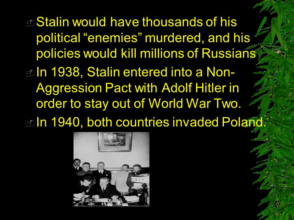 " Stalin ridiculed Trotsky's policies including his ideas of ""permanent revolution"" and ""collectivization"" of agriculture  Stalin would later incorpo"