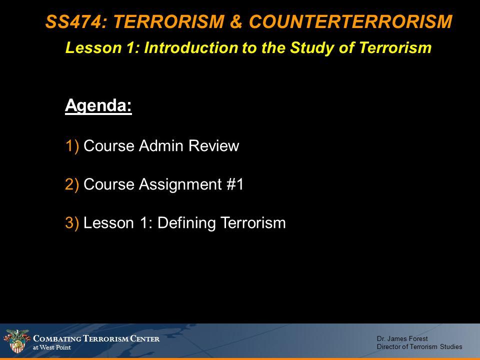C OMBATING T ERRORISM C ENTER at West Point Dr.