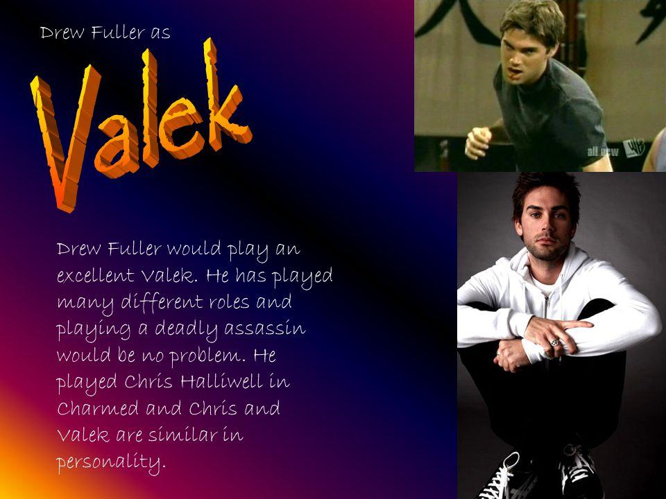 Drew Fuller as Drew Fuller would play an excellent Valek.