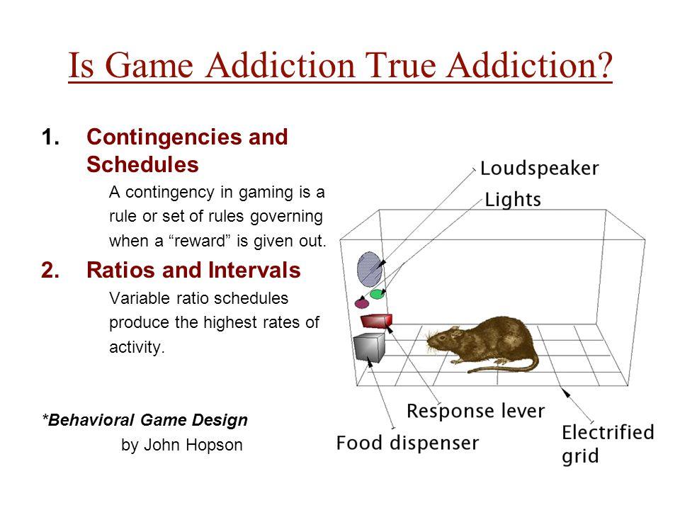 Is Game Addiction True Addiction.