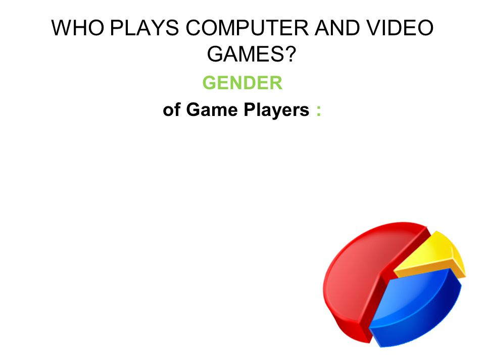 WHO PLAYS COMPUTER AND VIDEO GAMES GENDER of Game Players :