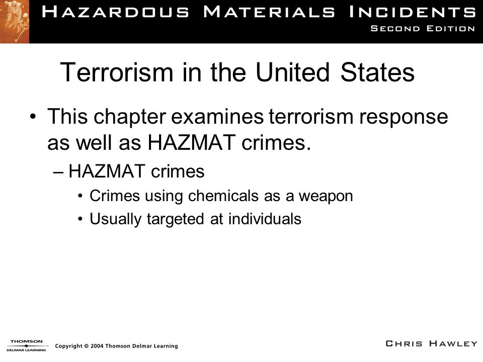 Incident Actions (1 of 2) Mass Casualty EMS Incident + Hazardous Materials Release and/or Explosive Devices + Crime Scene Considerations = Incident Management Challenges
