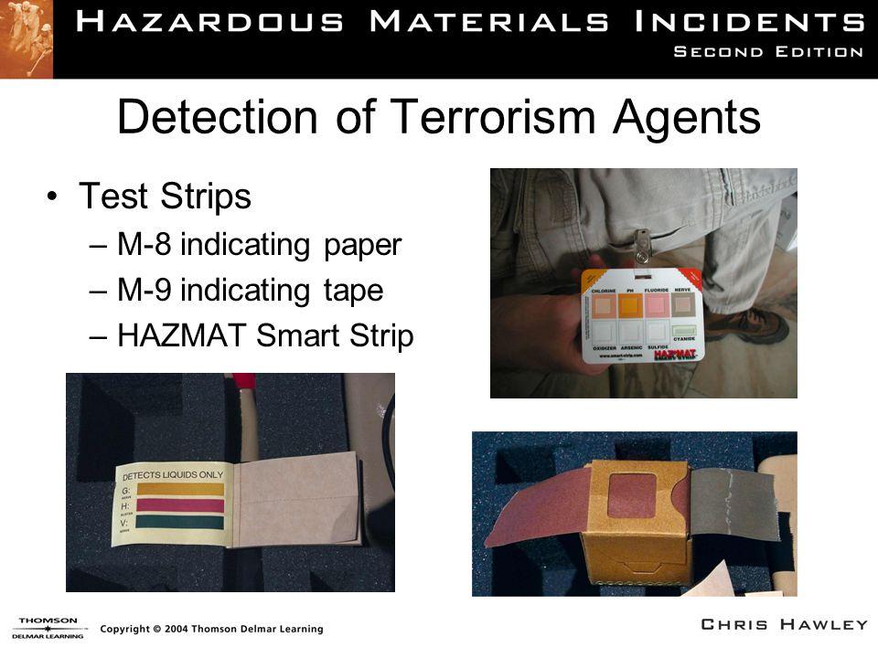 Detection of Terrorism Agents Test Strips –M-8 indicating paper –M-9 indicating tape –HAZMAT Smart Strip