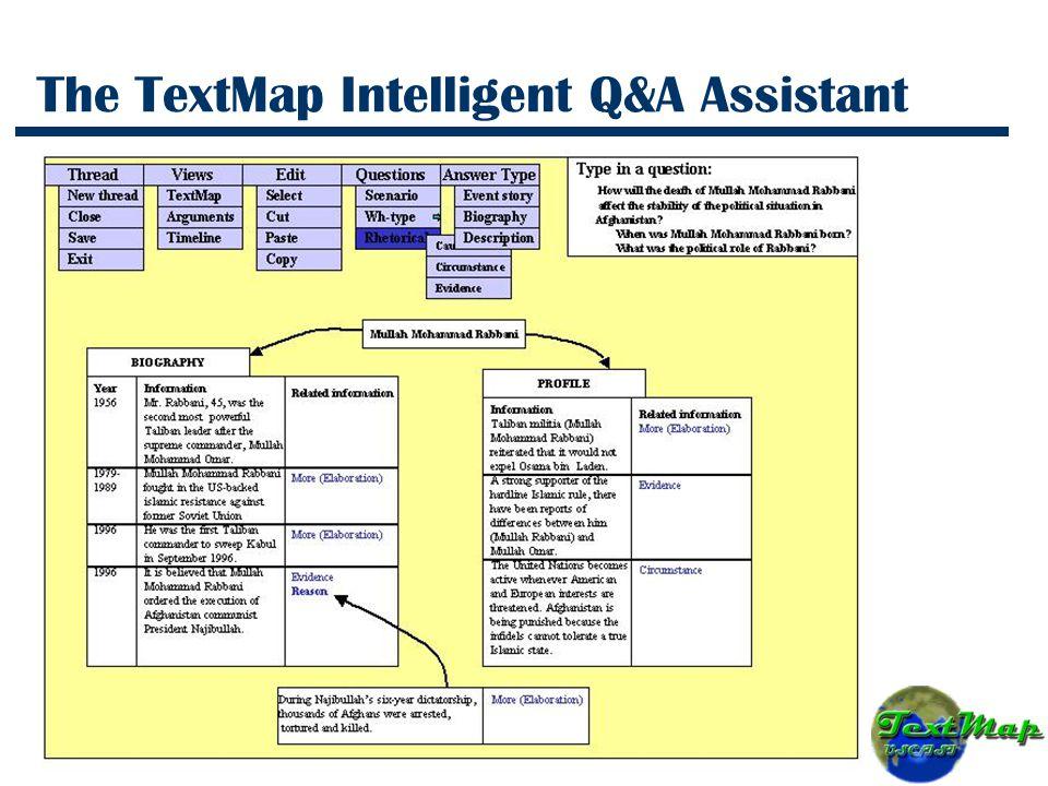 The TextMap Intelligent Q&A Assistant