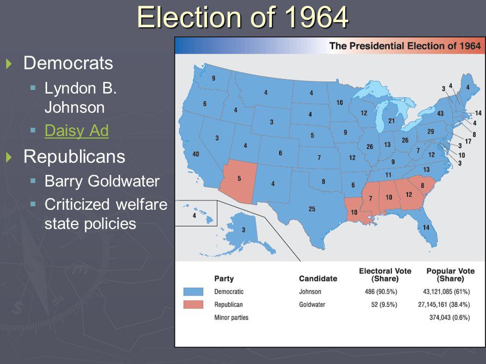 Election of 1964   Democrats   Lyndon B.