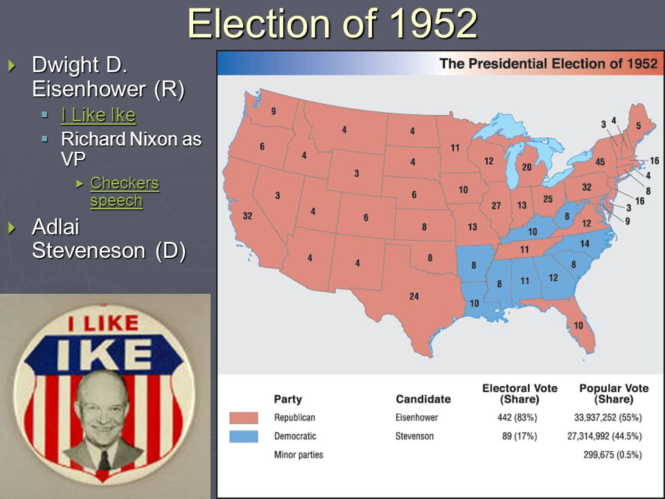 Election of 1952  Dwight D.