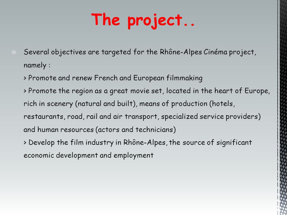 The project..