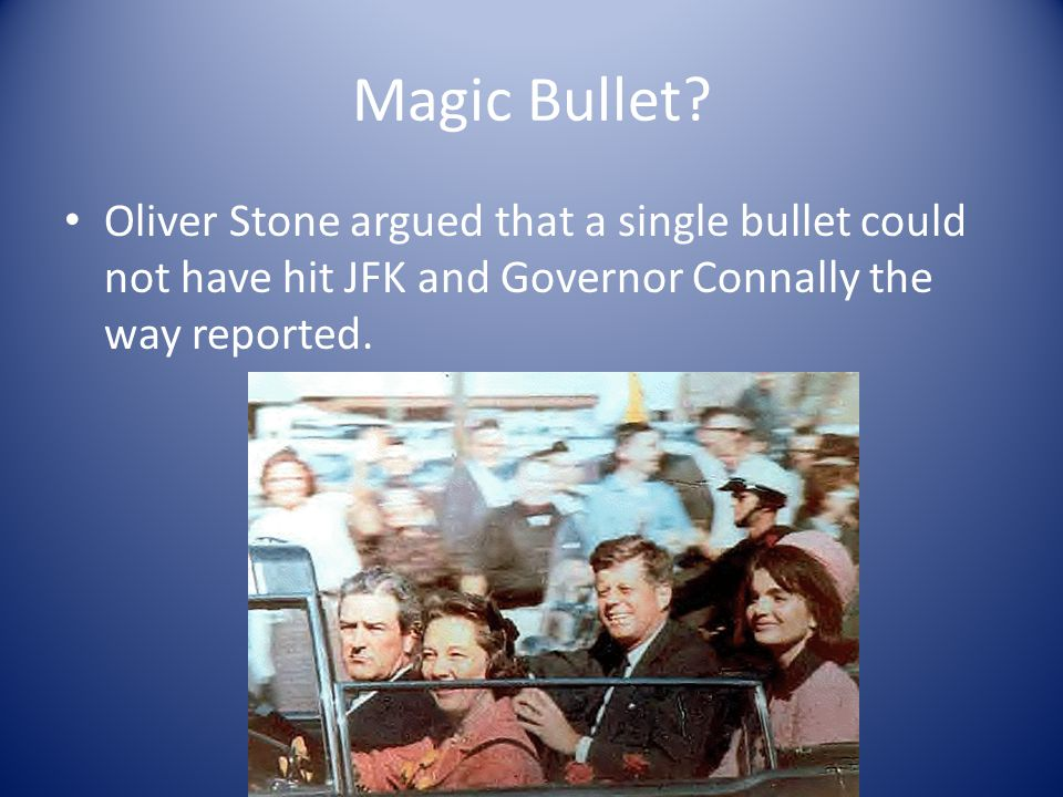 Autopsy Kennedy was hit in the back of the neck, not the front. He was hit in the back of the head, not the front. A shooter could not have hit JFK fr