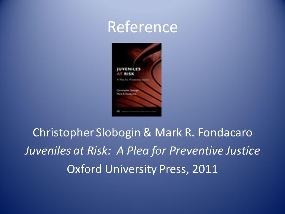 Reference Christopher Slobogin & Mark R.