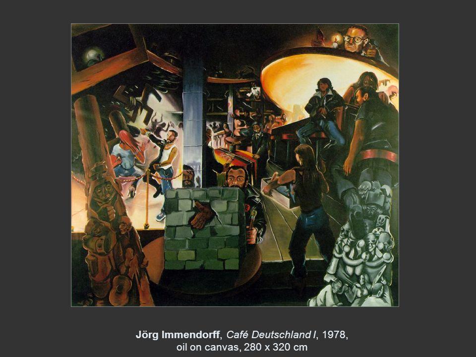 Jörg Immendorff, Café Deutschland I, 1978, oil on canvas, 280 x 320 cm